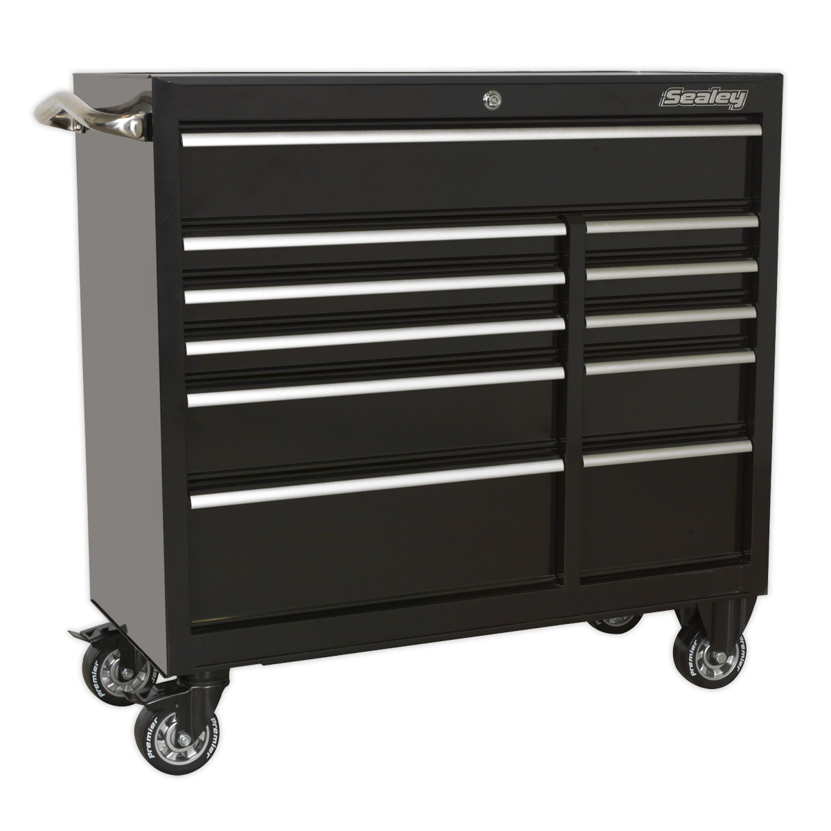 Sealey Rollcab 11 Drawer 1055mm Heavy-Duty Black PTB105511 | Heavy-duty welded steel construction for strength and durability. | toolforce.ie