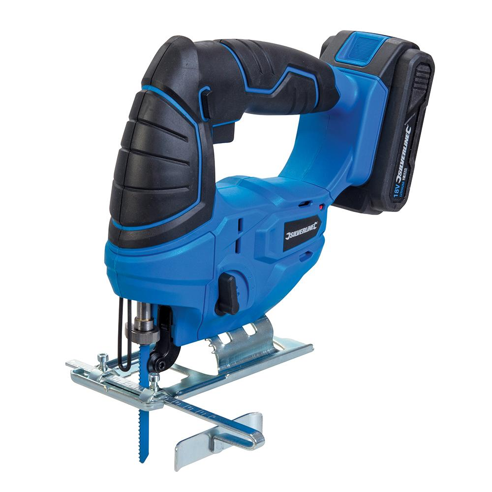 Silverline 18V Jigsaw 947242, Variable speed trigger & 3-stage pendulum action   Toolforce