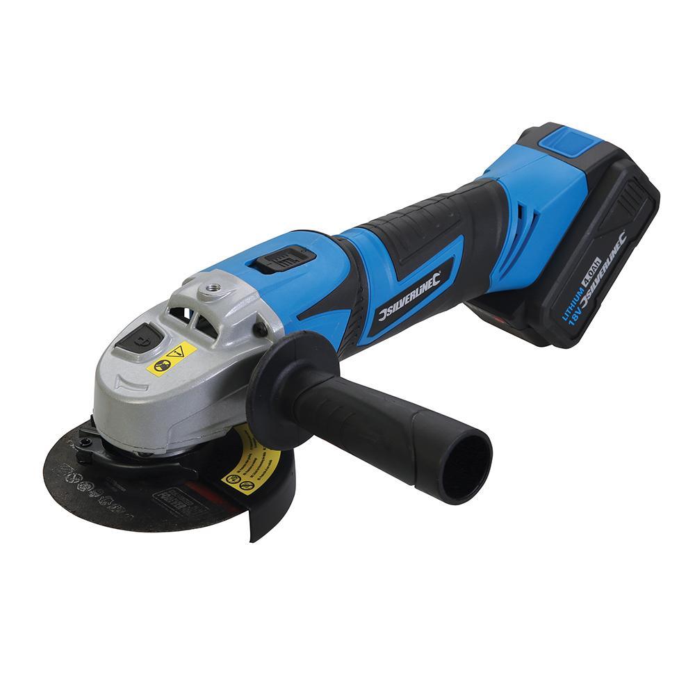 Silverline 18V Angle Grinder 115mm 980960, For grinding, cutting & sanding tasks | Toolforce.ie