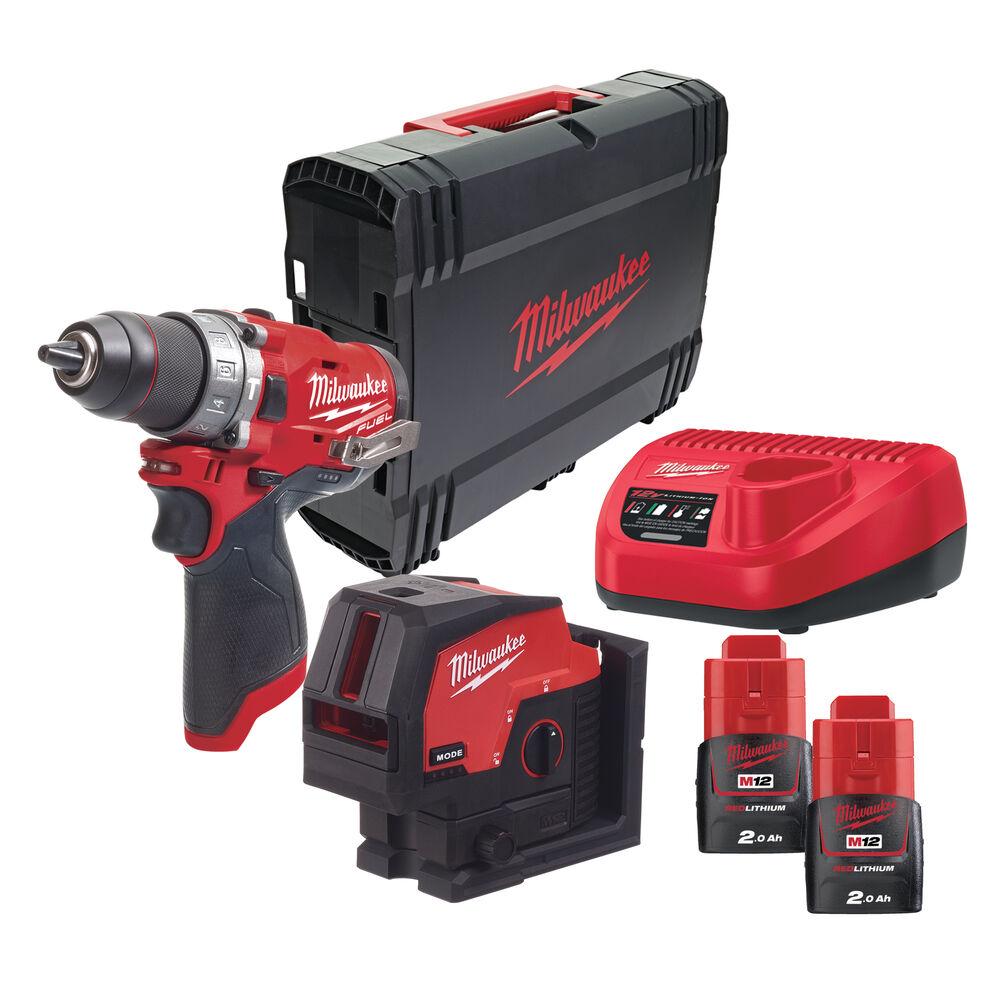 Milwaukee 12v battery cross laser level