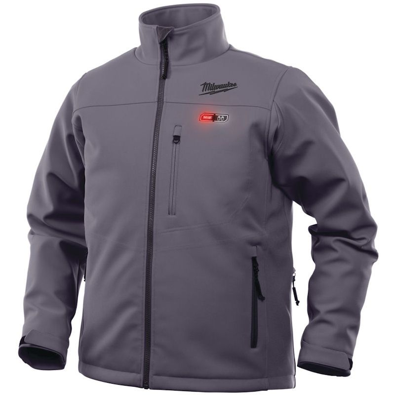 MILWAUKEE M12 GREY PREMIUM HEATED JACKET SMALL M12HJGREY5-0(S) , The 5 sewn in carbon fibre heating zones, distributes heat to core body areas and to the front pockets.