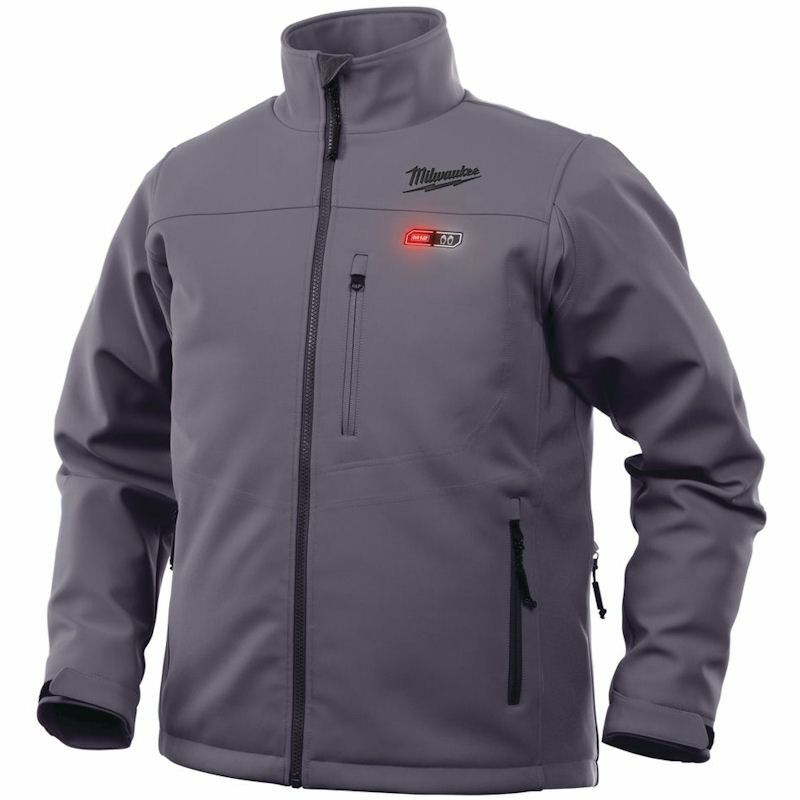MILWAUKEE M12 GREY PREMIUM HEATED JACKET MEDIUM M12HJGREY5-0(M) , The 5 sewn in carbon fibre heating zones, distributes heat to core body areas and to the front pockets.