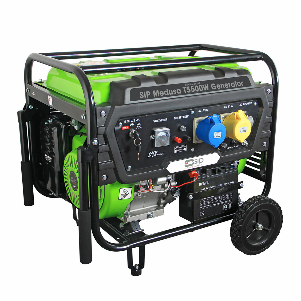 SIP Medusa T5500W Generator 25137   Automatic Voltage Regulator (AVR) helps to deliver both stable non-fluctuating power for sensitive equipment   toolforce.ie