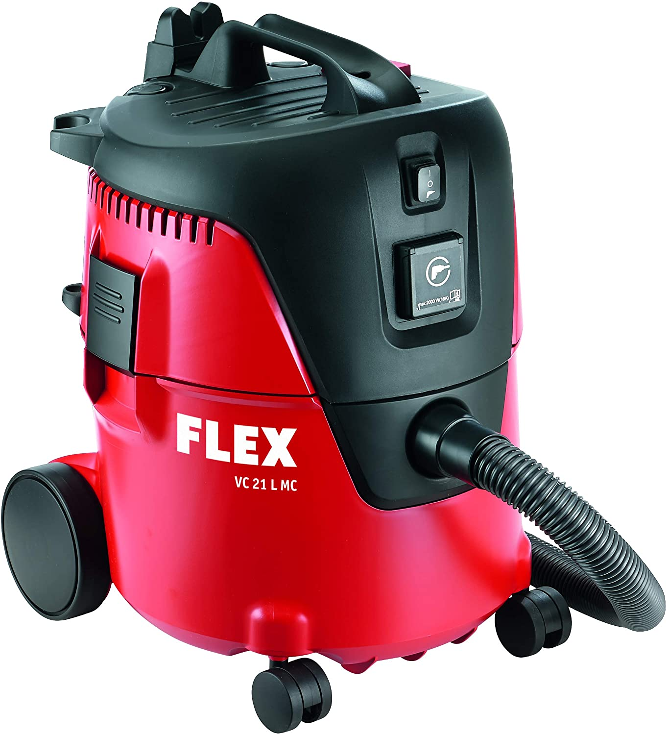 Flex Vacuum Cleaner VC 21 L MC 230/CEE | The high-performance turbine ensures both a high suction capacity and a high vacuum. The outcome is an excellent extraction result | toolforce.ie