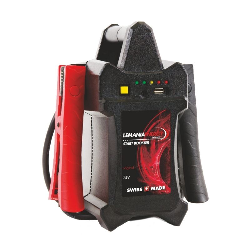 Lemania 12V Portable Start Booster P12-1600 | The test button allows users to easily check the charge level of the booster and test the alternator of a vehicle. | toolforce.ie