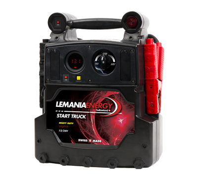 Lemania Start Truck P21-ST-22 | Digital voltometer display allows professionals to quickly see the voltage available and to test the alternator of a vehicle. | toolforce.ie