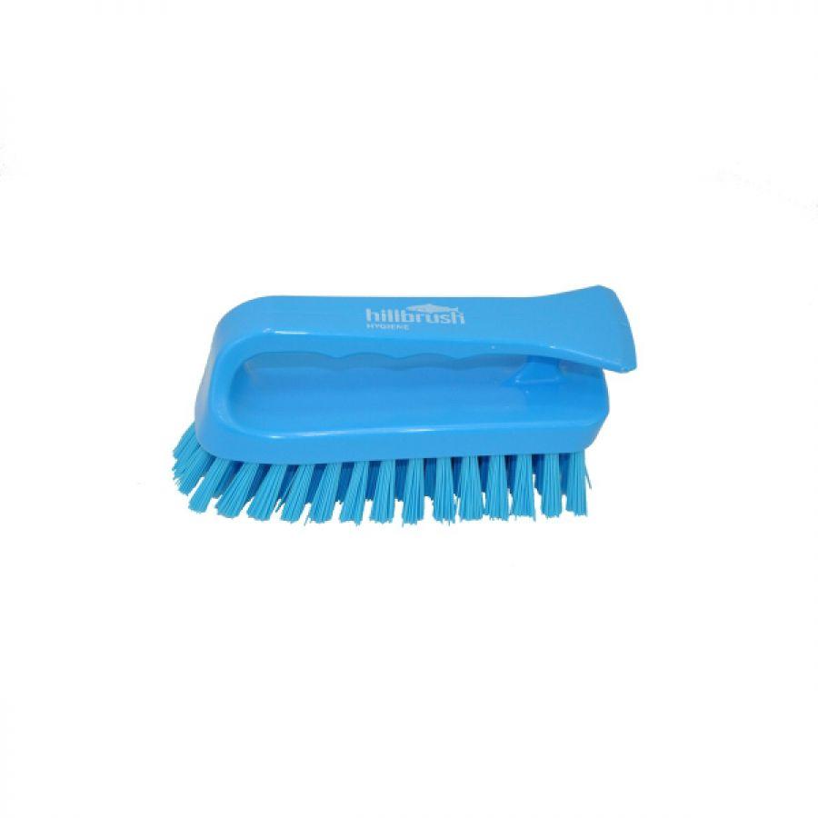 Hillbrush Professional Stiff Bristle Scrub Brush 152mm Blue ST8B, Designed for applying maximum pressure over small areas   Toolforce.ie