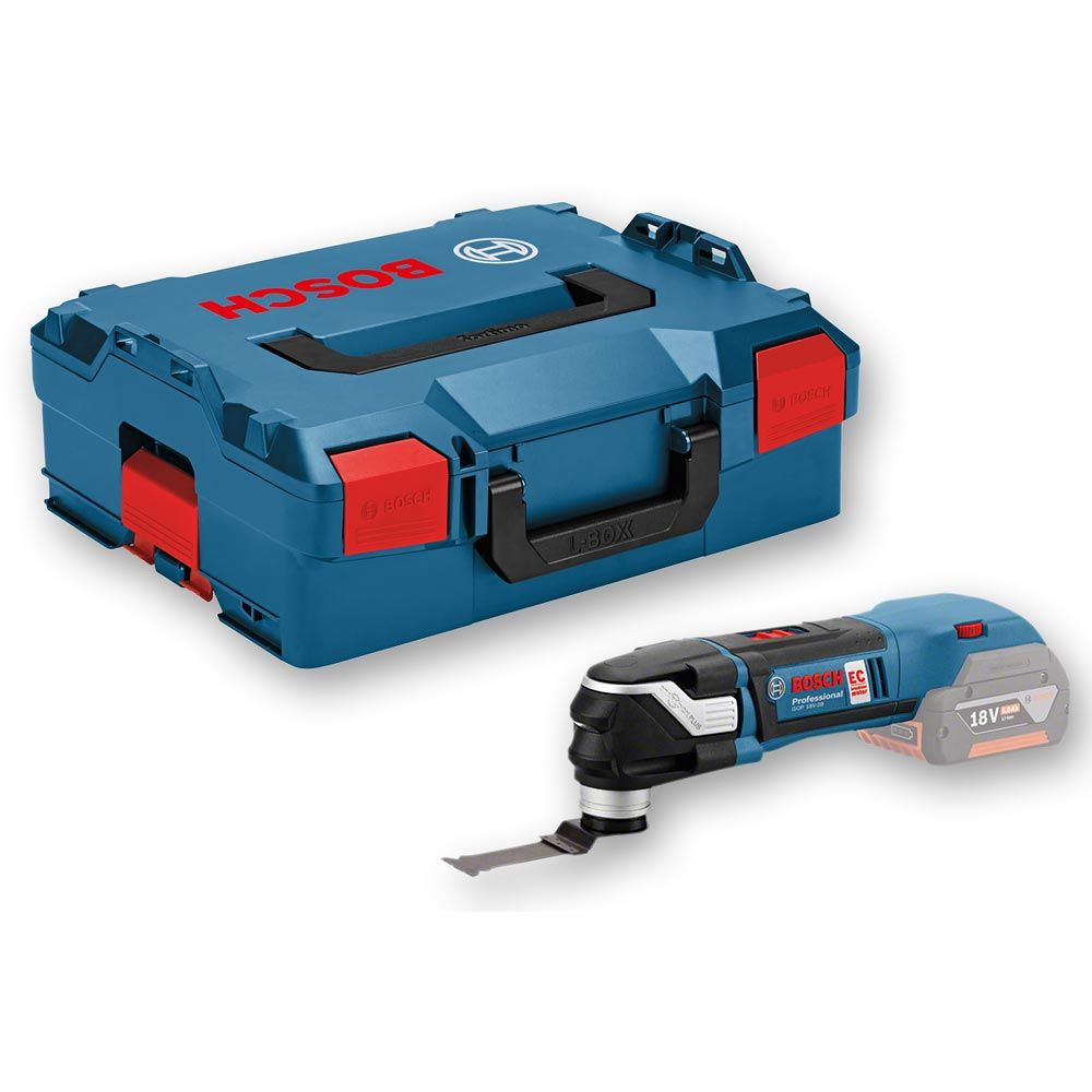 BOSCH MULTI TOOL - STARLOCK 18V GOP18V-28 | It can be used in wood, plastic, and metal. It is compatible with the Starlock and StarlockPlus systems. | toolforce.ie
