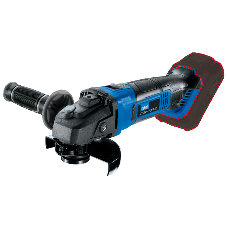 Draper Storm Force 20V Angle Grinder 115mm (Body Only) 89521 | Multi-angled safety guard. | toolforce.ie
