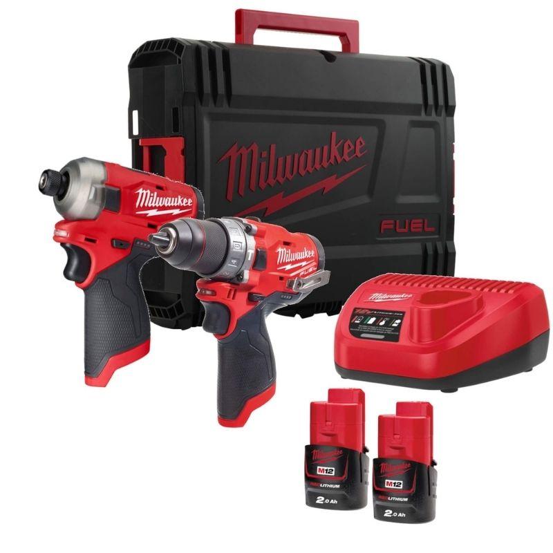 Milwaukee M12 Fuel Drill & Impact Driver Twin Pack M12FPP2AQ-202X