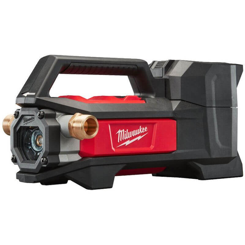 MILWAUKEE M18 COMPACT TRANSFER PUMP M18BTP-0 18V transfer pump with 3.4 kg in weight, it's lighter than other corded transfer pumps with an equal performance.