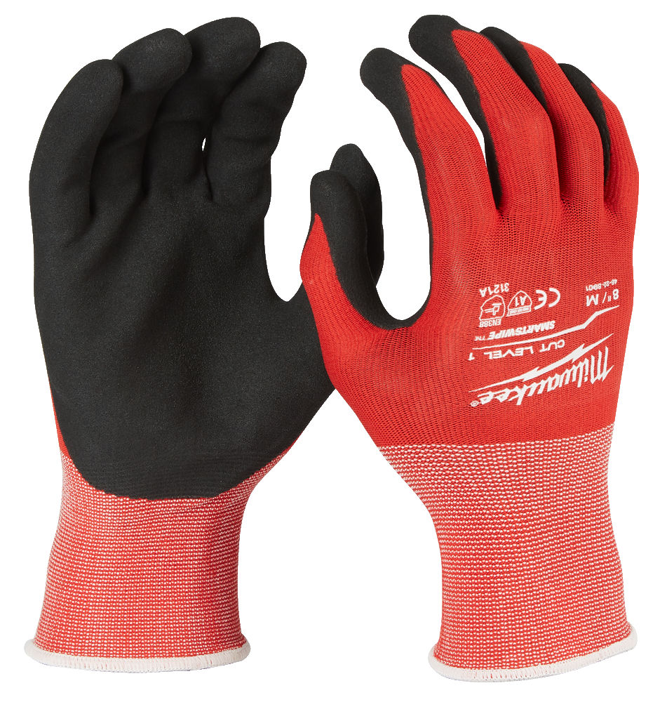 Milwaukee Winter Work Gloves Cut Resistant Level 1 Large