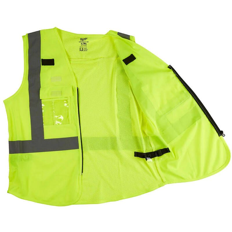 Milwaukee Hi-Visibility Vest Yellow, European Certified: EN ISO 20471: 2013/A1:2016.