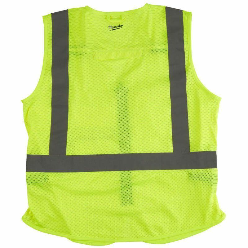 Milwaukee Hi-Vis Vest Yellow, European Certified: EN ISO 20471: 2013/A1:2016.