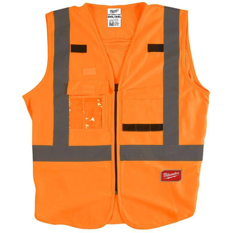 Milwaukee Hi-Visability Vest Orange, European Certified: EN ISO 20471: 2013/A1:2016.
