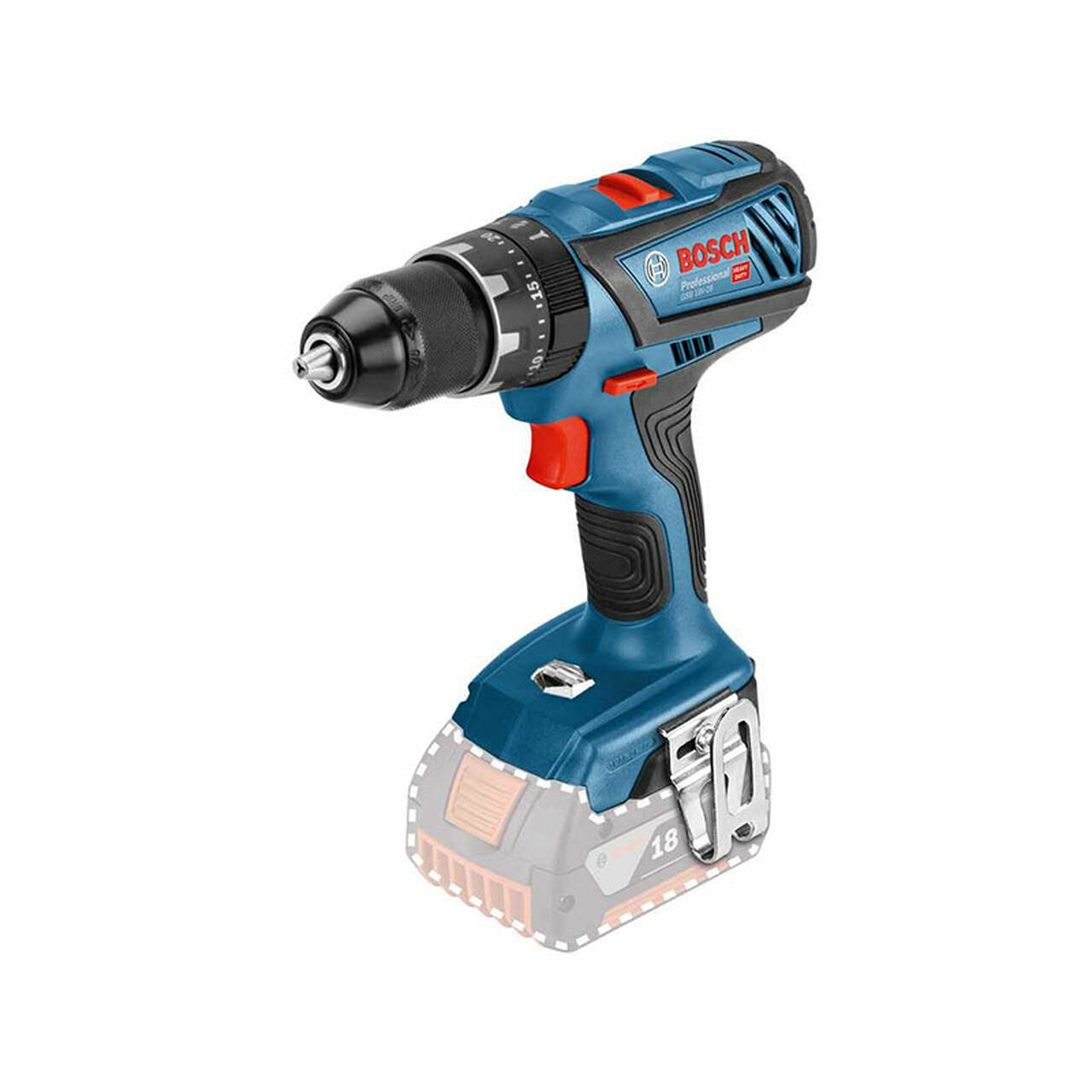 Bosch Professional 18v Combi Drill GSB18V-28 (Body Only) Professional performer in the 18 V category - with impact drilling function