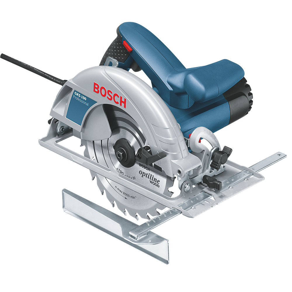 Bosch Hand Held Circular Saw 190mm, Turbo blower for dust-free view of the cutting line.