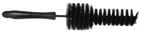 Vikan 325mm Wheel Cleaning Brush Soft 525052, This new wheel rim brush from Vikan has soft natural filaments, which safely clean aluminum rims.
