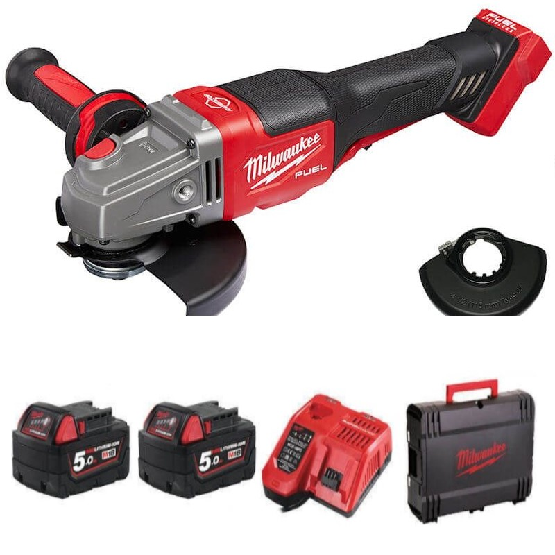 """5"""" Milwaukee cordless battery power angle grinder"""