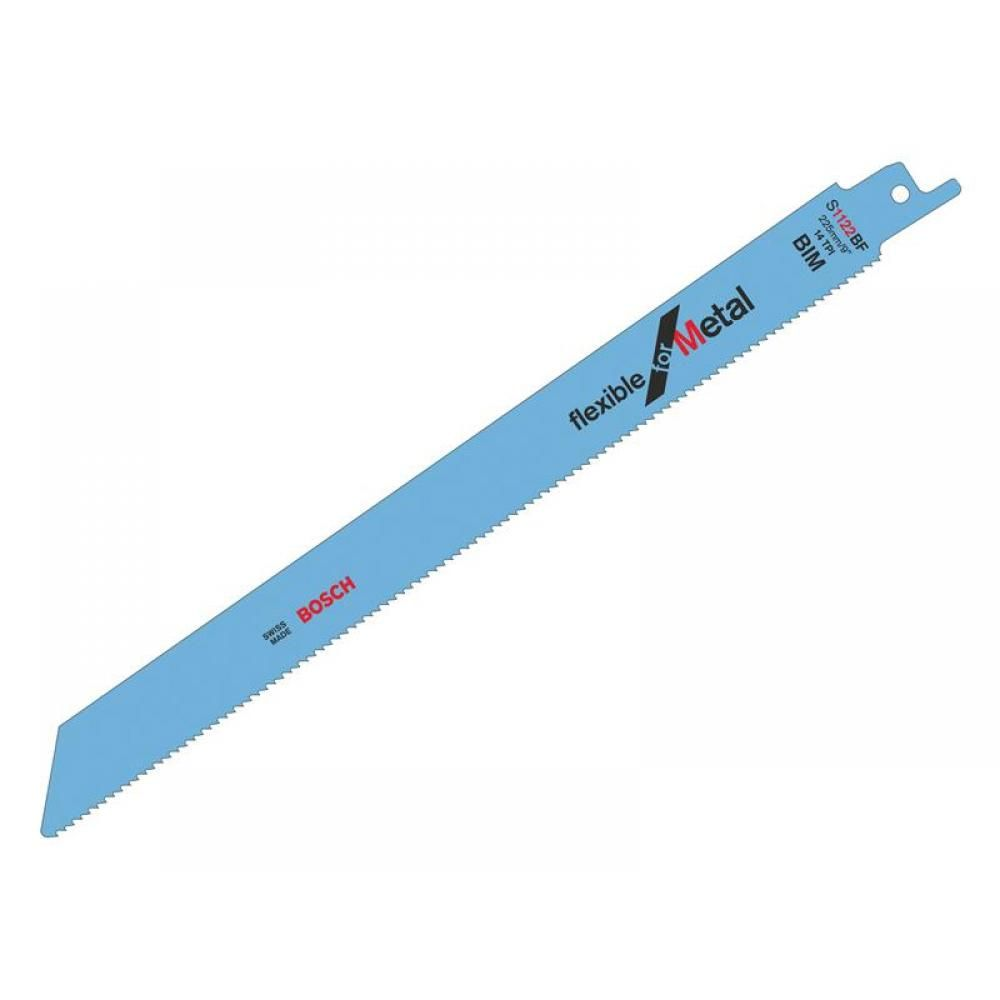 """BOSCH RECIPROCATING SAW BLADES 225MM 5 PACK S1122BF, For use with reciprocating saws with ½"""" universal shank systems."""