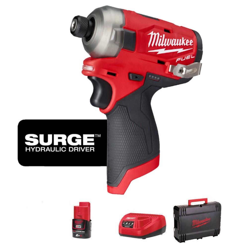 Milwaukee M12 Fuel Surge Impact Driver Kit M12FQID-201X