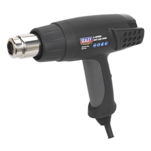 SEALEY2000W Hot Air Gun HS100 | Gun is designed to stand vertically, allowing use as a safe Bunsen burner alternative. | toolforce.ie