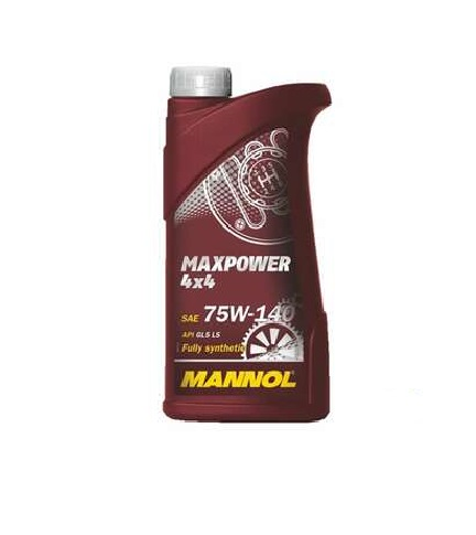 MANNOL 1L MAXPOWER 4X4 75W-140 Fully Synthetic Gear Oil, Endures extreme loads and protects against thermal degradation and oxidation.