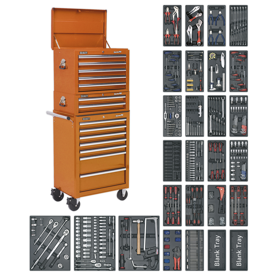 Sealey Tool Chest Combination 14 Drawer with 1179 Piece Tool Kit | Comprehensive range of tools that are organised and easily accessible | toolforce.ie
