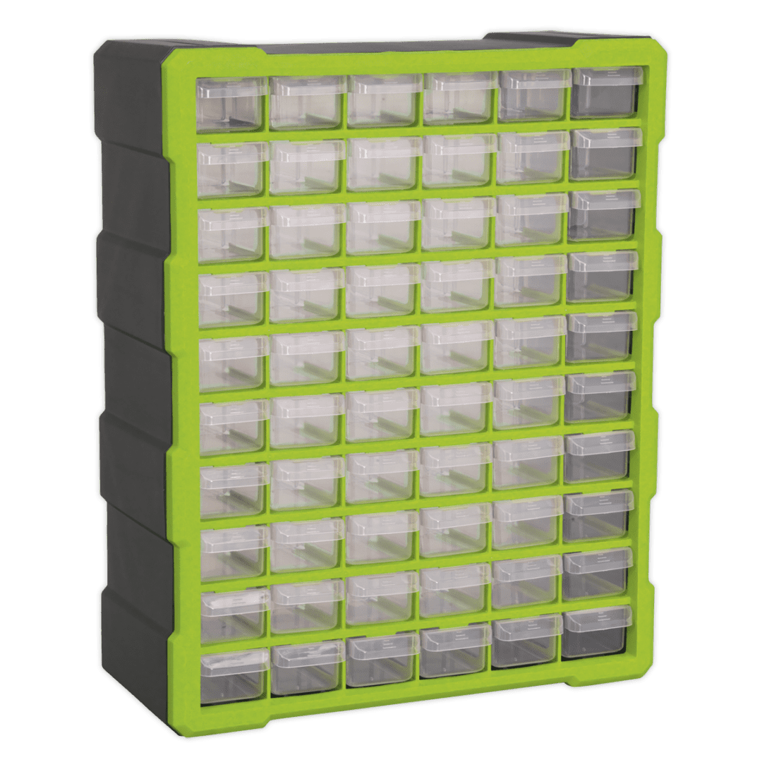 SEALEY 60 DRAWER CABINET BOX APDC60HV   Tough and durable housing, contains 60 impact resistant composite drawers.   toolforce.ie