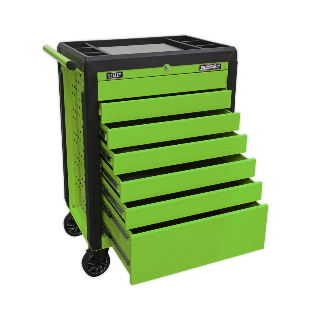 Sealey 7 Drawer Push To Open Rollcab Toolchest APPD7G | Rust and solvent resistant powder coat paint finish | toolforce.ie