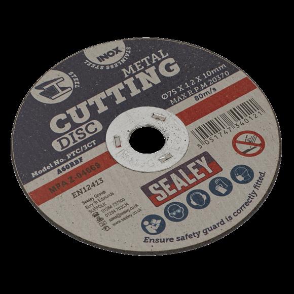 Sealey Cutting Disc Ø75 x 1.2mm 10mm Bore PTC/3CT