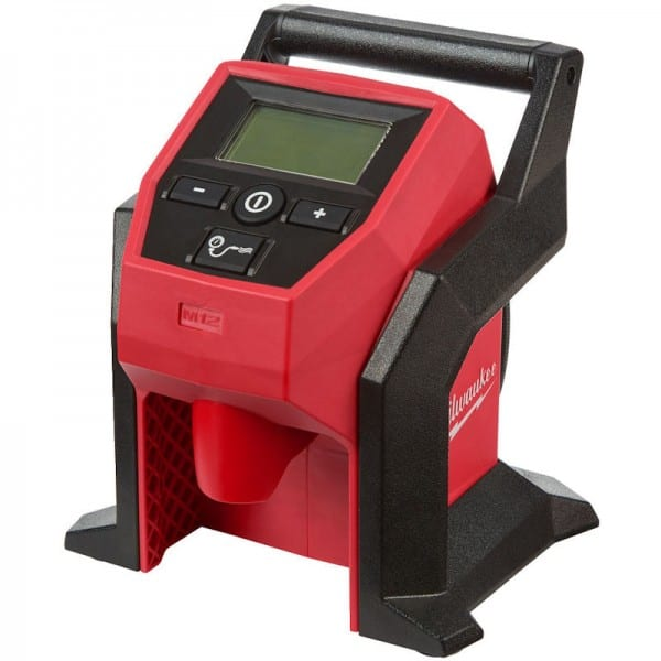 MILWAUKEE M12 TYRE INFLATOR (Sub Compact) M12BI-0  Compact lightweight design for fast inflation of car, light truck and compact equipment tyres.   High efficiency motor & pump.   toolforce.ie