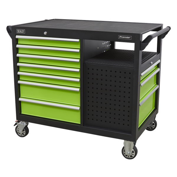 Sealey Mobile Work Station With Tool Storage AP45MWS | Cupboard and drawers lock separately for safe storage. | toolforce.ie