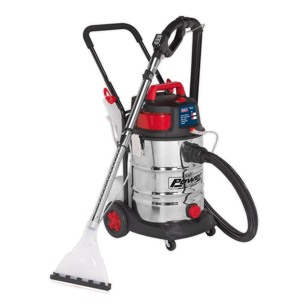 Valet Machine Wet & Dry 30L Stainless Drum | High powered unit ideal for cleaning carpets, car interiors, fabrics and upholstery. | toolforce.ie