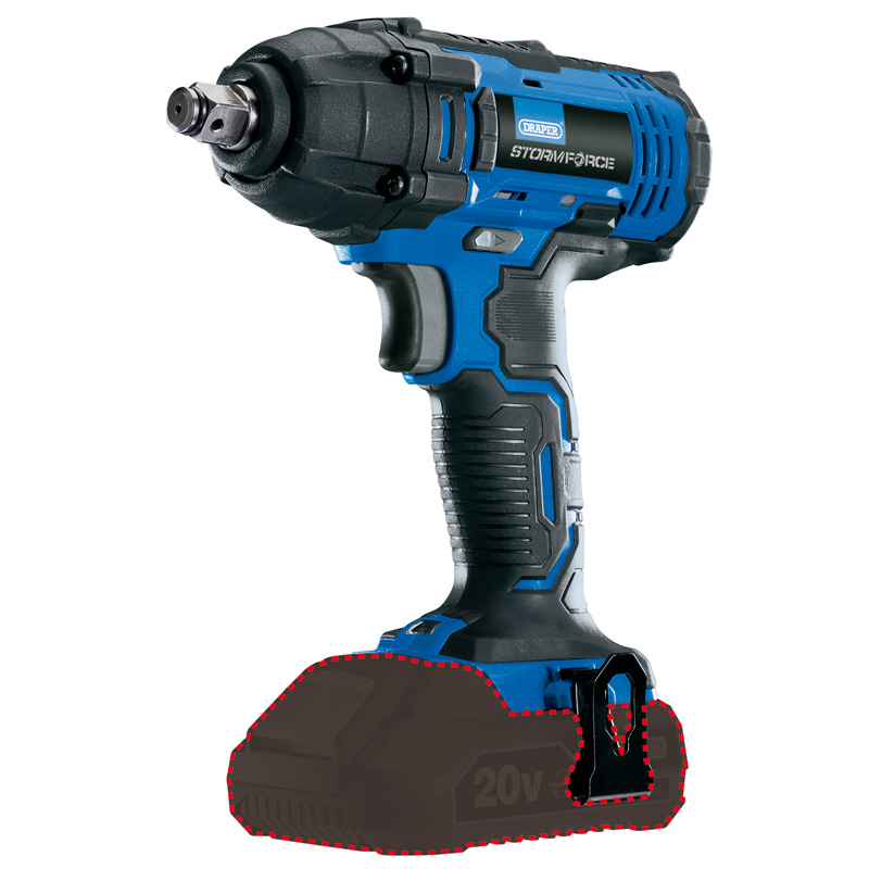 """Draper Storm Force 20V 1/2"""" Mid-Torque Impact Wrench 250Nm (Body Only) 89519"""