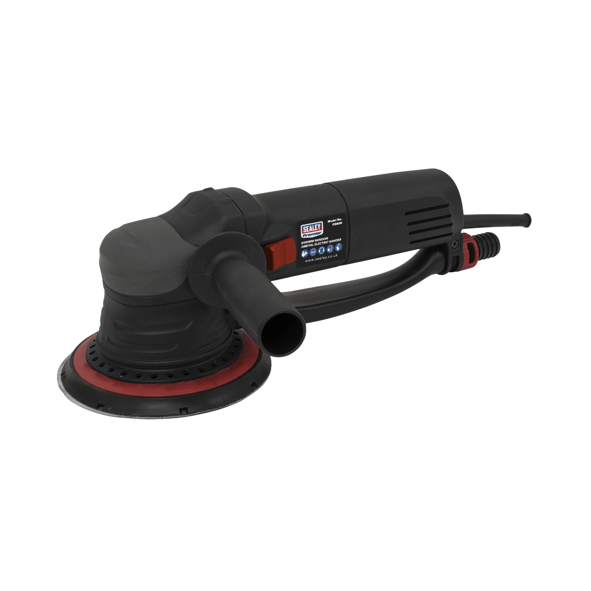 Sealey Random Orbital Electric Sander OS600 | 6-Stage variable speed control from 3200-7200rpm. | toolforce.ie