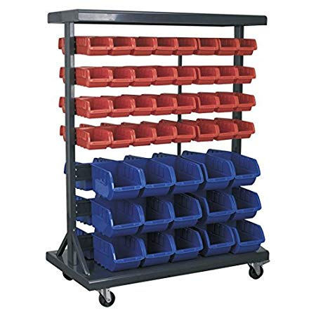 SEALEY MOBILE DOUBLE-SIDED STORAGE BIN SYSTEM   94 Bin mobile storage system, ideal for holding small parts or various sizes nuts and bolts   toolforce.ie