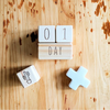 Milestone Blocks, natural, raw, timber. 1 Day