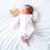 Raw wooden Milestone Blocks - 1 week old baby