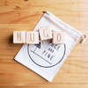 Page and Pine letter blocks - name - Hugo