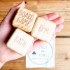 Raw Wooden Date Night Dice