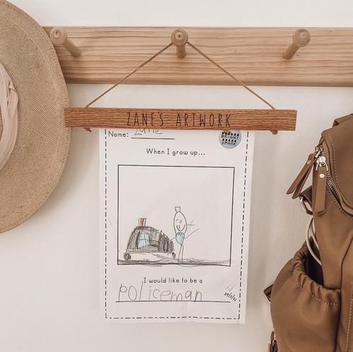 Seconds Sale - Oak Magnetic Artwork Hanger