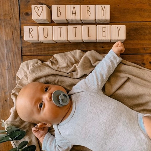 Page and Pine letter blocks - baby rutley