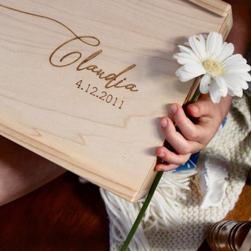 PRE-ORDER Personalised Wooden Keepsake Box