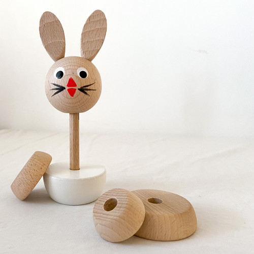 Wooden Bunny Stacker