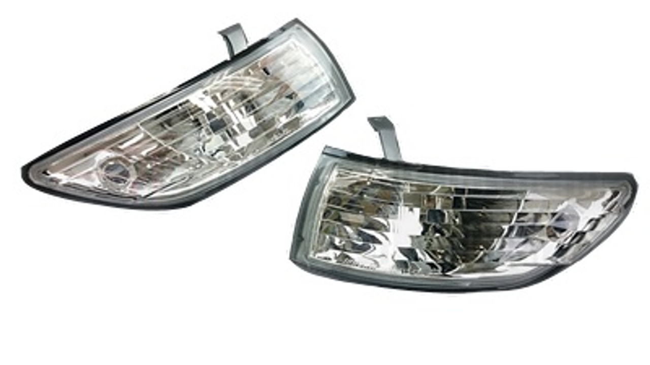 Phase 2 Crystal Clear Corner Turn Lights Lamps Set Silvia Front 240SX S13 89-94