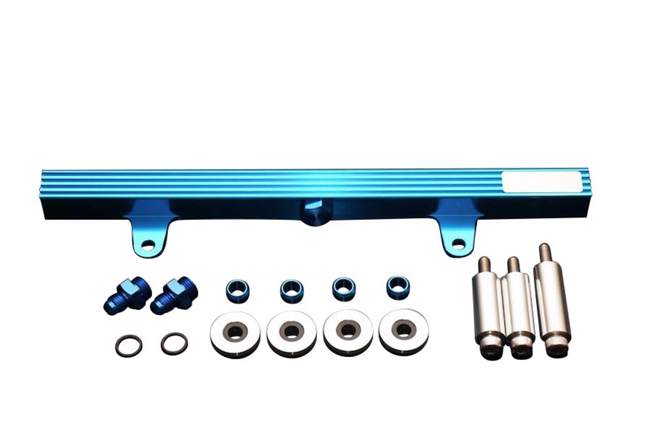 For Nissan 200SX S14,S15 SR20DET High Flow CNC Billet Aluminum Fuel Rail Black