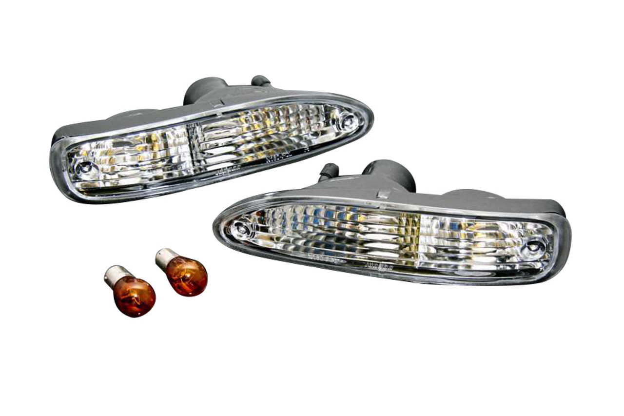 Phase 2 Tear Drop Crystal Clear Front Turn Signals For Nissan S13 180SX Chuki