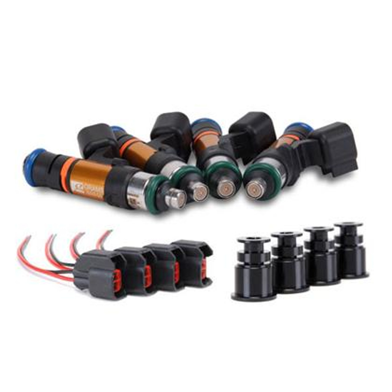 Grams Performance 1000cc Fuel Injectors (Set of 4) for Nissan SR20 RWD (Top  Feed 11mm)