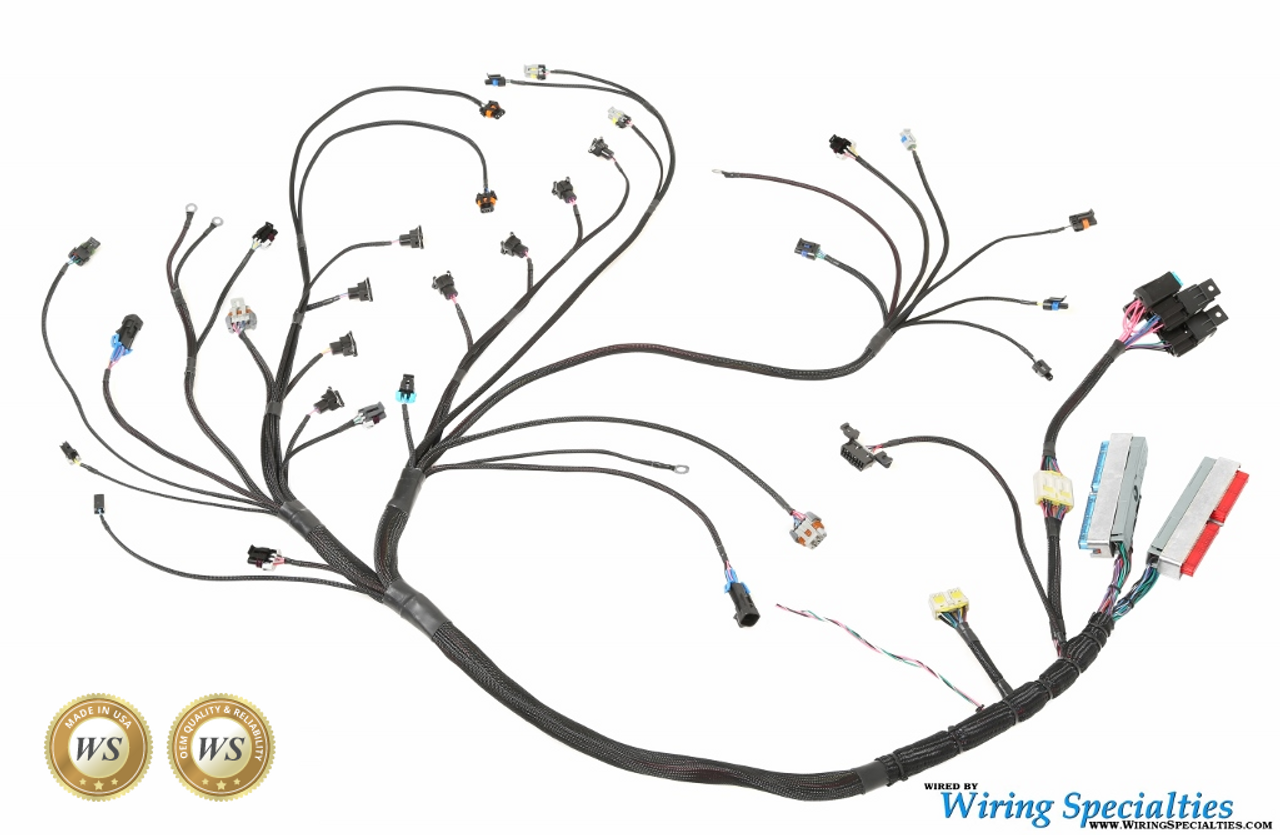 wiring specialties pro series lsx gen iv wiring harness for nissan 350z g35 350z Wire Harness Routing